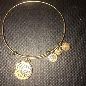 Alex and ani bracelet lotus